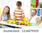 at school   students prepare... | Shutterstock . vector #1116079325