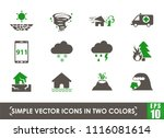 natural disasters simple vector ... | Shutterstock .eps vector #1116081614
