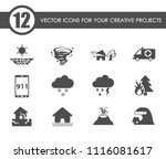 natural disasters vector icons... | Shutterstock .eps vector #1116081617