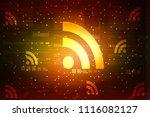 2d illustration wifi symbol   Shutterstock . vector #1116082127
