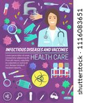 infectious disease medicine and ...   Shutterstock .eps vector #1116083651