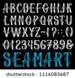 alphabet retro font set of... | Shutterstock .eps vector #1116083687