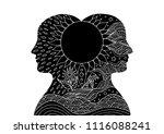 human head spirit power energy... | Shutterstock .eps vector #1116088241