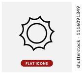 sun vector icon  summer symbol. ... | Shutterstock .eps vector #1116091349