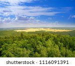 harz mountains aerial view in... | Shutterstock . vector #1116091391