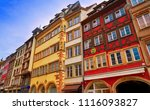 strasbourg downtown street...   Shutterstock . vector #1116093827