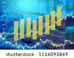 businessman on digital stock... | Shutterstock . vector #1116093869