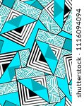 abstract seamless geometric... | Shutterstock . vector #1116094094