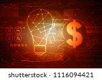 2d rendering dollar symbol    Shutterstock . vector #1116094421