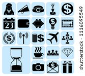 set of 22 business high quality ... | Shutterstock .eps vector #1116095549