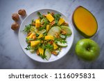 arugula mango and apple salad... | Shutterstock . vector #1116095831