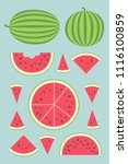 vector illustration  set of 13... | Shutterstock .eps vector #1116100859