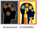 alcohol affecting the mood.... | Shutterstock . vector #1116103061