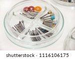 dental drill burs. dental...   Shutterstock . vector #1116106175