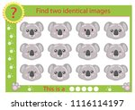 find two identical images with... | Shutterstock .eps vector #1116114197