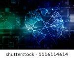 2d illustration network... | Shutterstock . vector #1116114614
