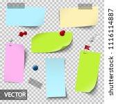 vector file of empty papers... | Shutterstock .eps vector #1116114887