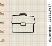 portfolio sketch icon. element...   Shutterstock . vector #1116119657
