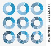 vector circle for infographic... | Shutterstock .eps vector #1116121664