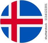 circular flag of iceland | Shutterstock .eps vector #1116122201