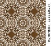 beautiful flower mandala.... | Shutterstock .eps vector #1116136289