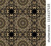 beautiful flower mandala.... | Shutterstock .eps vector #1116137135
