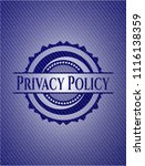 privacy policy with jean texture   Shutterstock .eps vector #1116138359