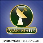 gold shiny badge with radar... | Shutterstock .eps vector #1116142631