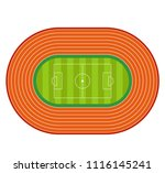 top view of soccer or football... | Shutterstock .eps vector #1116145241