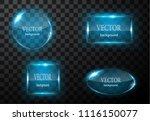glass vector button plane. easy ...   Shutterstock .eps vector #1116150077