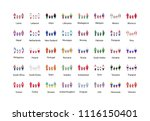 large set of glossy metal badge ... | Shutterstock .eps vector #1116150401