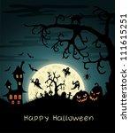 happy halloween greeting card... | Shutterstock .eps vector #111615251
