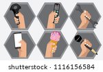 hand holding difference object. ...   Shutterstock .eps vector #1116156584
