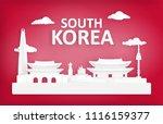 vector landmark of seoul south...   Shutterstock .eps vector #1116159377
