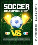 soccer championship. football... | Shutterstock .eps vector #1116164549