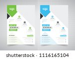 flyer design. business brochure ... | Shutterstock .eps vector #1116165104