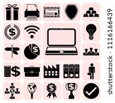 set of 22 business high quality ... | Shutterstock .eps vector #1116166439