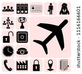 set of 17 business high quality ... | Shutterstock .eps vector #1116166601