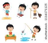 vector illustration of kids... | Shutterstock .eps vector #1116171125