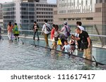 nagoya  japan   may 3  tourists ...   Shutterstock . vector #111617417