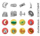 a megacity  a grand canyon  a... | Shutterstock .eps vector #1116176849