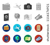 vacation  travel  passport ... | Shutterstock .eps vector #1116176921