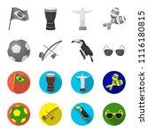 brazil  country  ball  football ... | Shutterstock .eps vector #1116180815