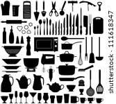kitchen tool collection  ... | Shutterstock .eps vector #111618347