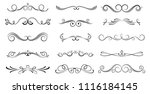 set of ornamental filigree... | Shutterstock .eps vector #1116184145