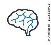 education   brain icon | Shutterstock .eps vector #1116185921