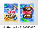 poster for summer and beach... | Shutterstock .eps vector #1116188627