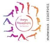 vector illustration yoga... | Shutterstock .eps vector #1116191411