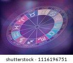 zodiacal circle. zodiac signs... | Shutterstock .eps vector #1116196751