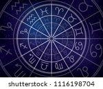zodiacal circle. zodiac signs...   Shutterstock .eps vector #1116198704